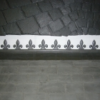 Lead fleur de lis ridging custom made to customers requirements