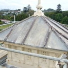 Traditional lead roof before