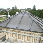 Traditional lead panelled roof after (Monte Cecelia aka Pah farm house) 35Kg lead